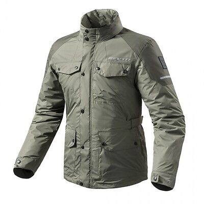 REV'IT FRC011 Olive Rain Jacket Quartz H2O Size Medium