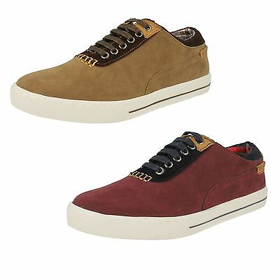 Mens Lambretta Lace Up Round Toe Pumps Smart Casual Trainers Shoes Arabour