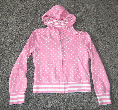 Youth Size 12---Justice Brand Long Sleeve Hooded Zip Up- Excellent
