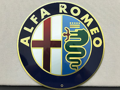 Alfa Romeo european sign reproduction high quality baked resin metal
