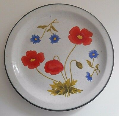Villager Stoneware Patchin Japan Poppies Dinner Plate