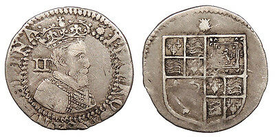 ENGLAND James I 1603-1625 Halfgroat (Twopence) 1603-1604 Near VF