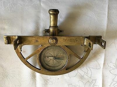 marine sextant Antique FRENCH Brass Surveying Surveyor Graphometer /Yr 1700