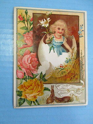 "Antique Trade Card,""easter Greetings"", Of The Woolson Spice Co. Toledo, Ohio"