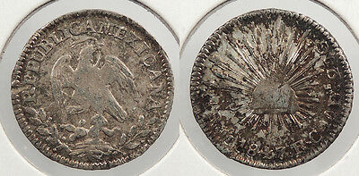 MEXICO: 1847-Mo RC 1/2 Real #WC60723