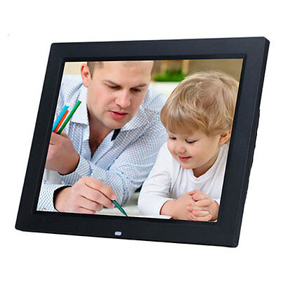 """15"""" LED Black HD High Resolution Digital Picture Photo Frame + 8GB TF Card"""