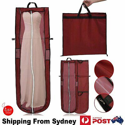 Large Garment Cover Bag Dustproof Clothes Dress Suit Coat Red Protector Wedding