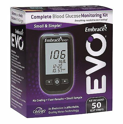Embrace EVO Blood Glucose Meter All in One Starter Kit
