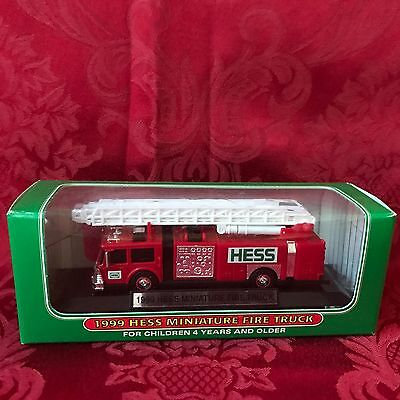 New In The Box-Mint-1999  Hess Mini Fire Truck-Direct From The Factory Case-Mint