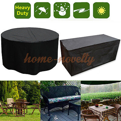 Round Large Garden Patio Furnture Set Tables Chairs Waterproof Covers Protector