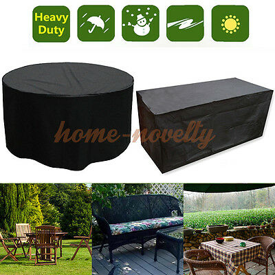 6-10 Seat Heavy Duty Furniture Outdoor Garden Table Chair Waterproof Rect Cover