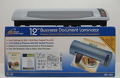 "Royal Sovereign 12"" Business Document Laminator Nr-1201 +++"