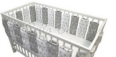 Infant Cot Bar Protector Crib Bumper Bed Protector Panels Breathable COTTON!