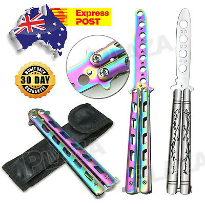 Rainbow Dragon Butterfly Knife Folding Training Practice Tool Balisong Trainer