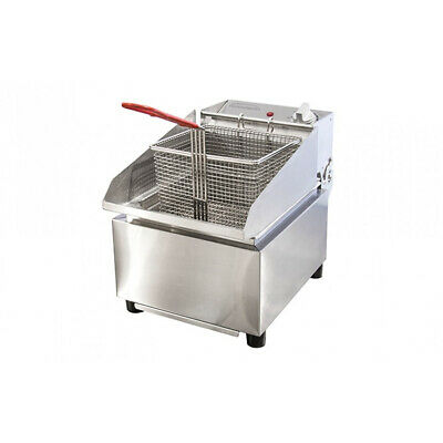 Benchtop Deep Fryer 8L Single Pan / Vat / Tank 15amp Woodson W.FRS80 Hot Chips