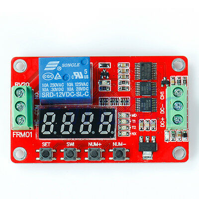 12V DC Multifunction Self-lock Relay PLC Cycle Timer Module Delay Time Switch K6