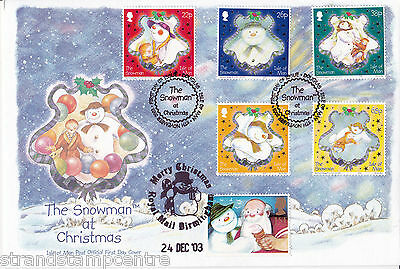 "2003 Christmas - Isle of Man ""The Snowman"" cover - Doubled on Xmas Eve !!"