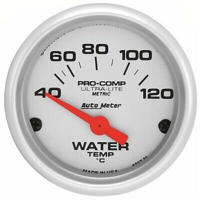 Pro Comp Ultra Lite Water Temp Gauge 120C 52mm Mechanical - Auto Meter 4337-M