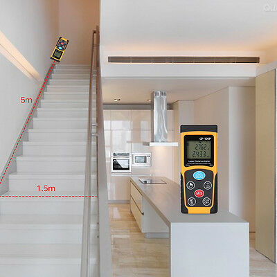 100M 328ft Digital Laser Distance Pointer Meter Range Finder Measure W/Backlight