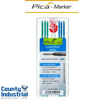 Pica 4040 DRY Refills For DRY Markers 3 x Green, 2 x White, 3 x Blue 4040REFILLS