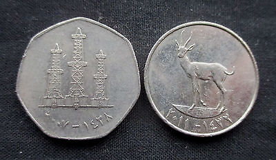 25 & 50 Fils United Arab Emirates random years #5201