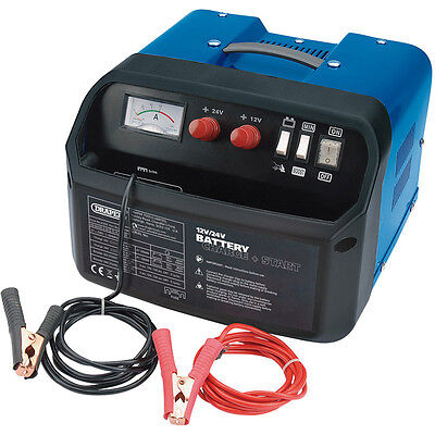 Draper 180A Amp 12V 24V Car Van Battery Charger & Jump Starter Booster 25355