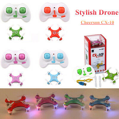 UK Cheerson CX-10 2.4Ghz 6Axis 4CH Gyro RC Quadcopter Drone Mini Copter Fly Toy