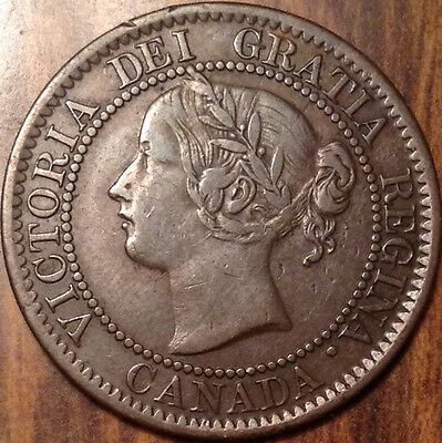 1859 Canada Large 1 Cent Penny In Superb High Grade Condition