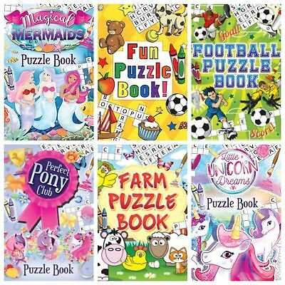 Childrens Puzzle Books Loot Party Bag Fillers Birthday Gift Wedding Lucky Dip