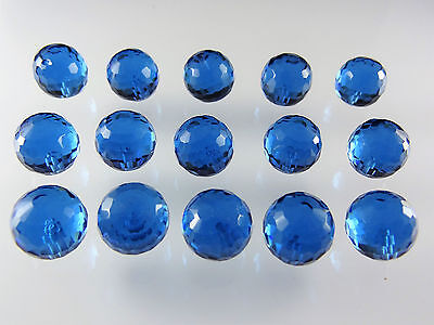 Aquamarine Spinel 14mm Round Briolette Cut Half Drilled Loose Bead Gemstones