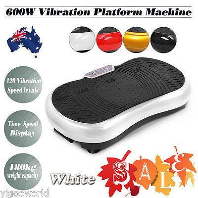600W Vibration Exercise Machine Platform Plate Silm Body Shaper Fitness Massager