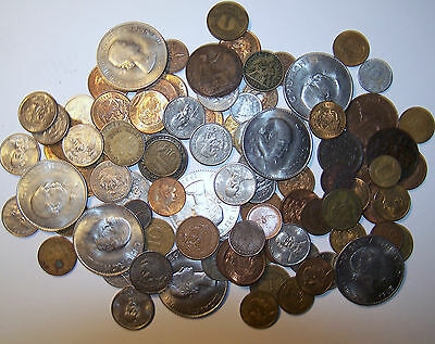 Large Lot of a 100 Foreign Coins.