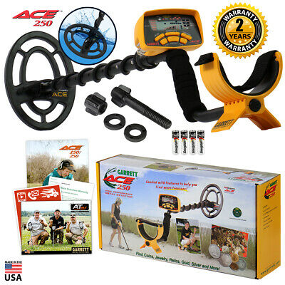 "Garrett ACE 250 Metal Detector with 6.5"" x 9"" PROformance Waterproof Coil"