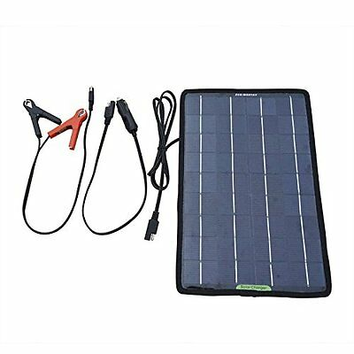ECO-WORTHY 12 Volts 10 Watts Portable Power Solar Panel Battery Charger Backup f