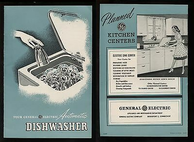 Original 1947 GE Sink Automatic Dishwasher User & Installation Manual