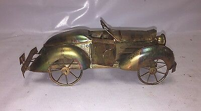 Tin Car - Coupe - Shelf or desk Decor - Plays 'King Of The Road' - Musicbox