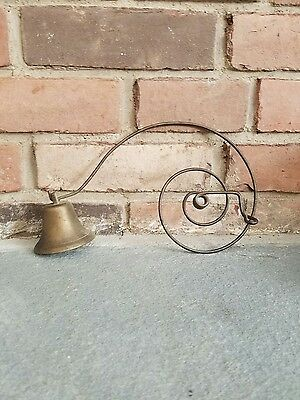 Antique Store /Servant /Butler Spring Brass Door Bell as seen in Downton Abbey