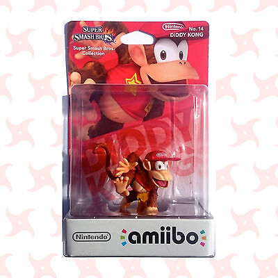 NEW AND SEALED Nintendo Amiibo - DIDDY KONG - Super Smash Bros - 3DS/WIIU/SWITCH