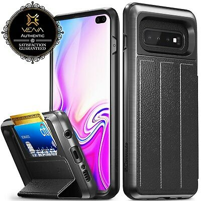 Samsung Galaxy S10+ Plus S9 S8【vCommute】Magnetic Leather Wallet Case Card Cover