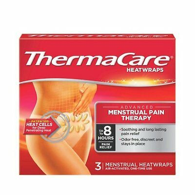 Thermacare 3 Heatwraps Advanced Menstrual Pain Therapy Up To 8 Hours Pain Relief