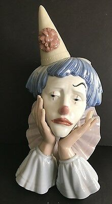 Vintage Lladro Clown Head
