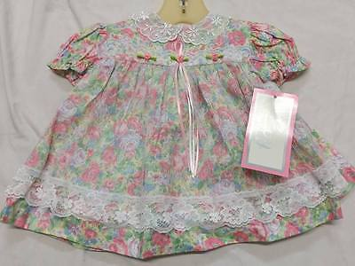 NWT Infant Baby Girl EVY 2-Piece Dress Set Easter Sz 3-6 Months
