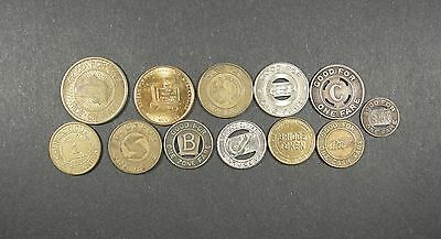 Lot Of Transit Tokens - 12 Pieces