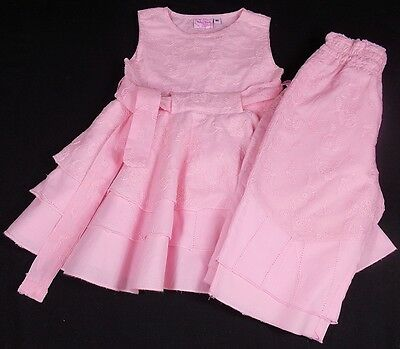 Baby Barb girls dress trousers outfit set pink 80cm 12 month bnwts
