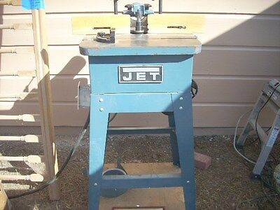 """Jet wood spindle shaper 1/2"""" and 3/4"""" spindles."""