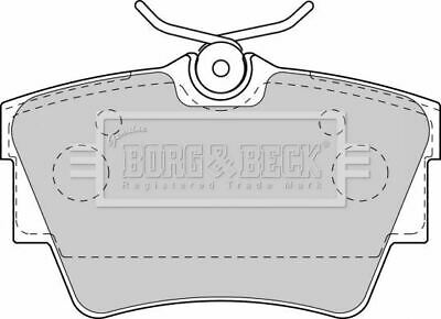 BORG /& BECK BBP1822 REAR BRAKE PADS fit VW Sharan//T4  Seat for d Galaxy