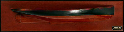 """Half Hull America's Cup Mischief 1881 Model 29"""" Wooden Sailboat Abordage' New"""