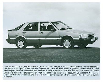 1990 Saab 9000 Turbo ORIGINAL Factory Photo och4961
