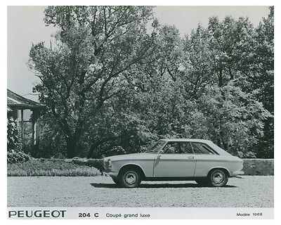 1968 Peugeot Coupe Grand Luxe ORIGINAL Factory Photo och4970