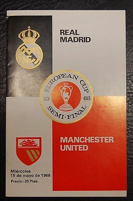 Real Madrid V Manchester United  European Cup  1967/68  George Best Played